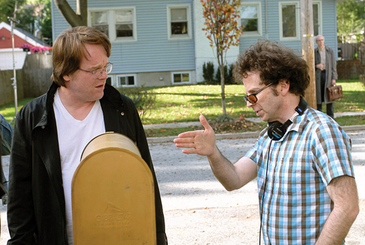 Charlie Kaufman & Philip Seymour Hoffman am Set